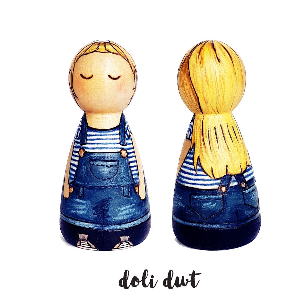peg doll girl, dungarees