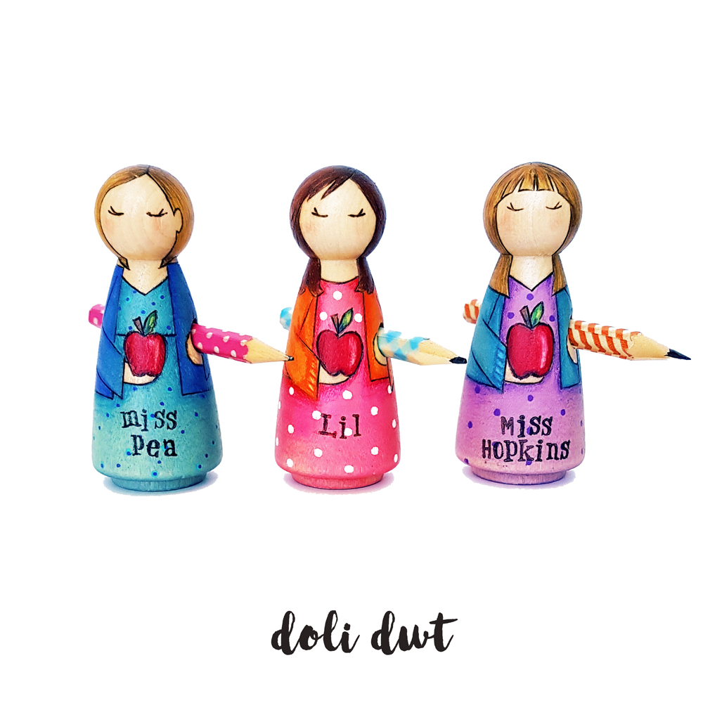 teacher gifts, personalised teacher gifts, end of term gifts, thank you teacher, personalised peg dolls