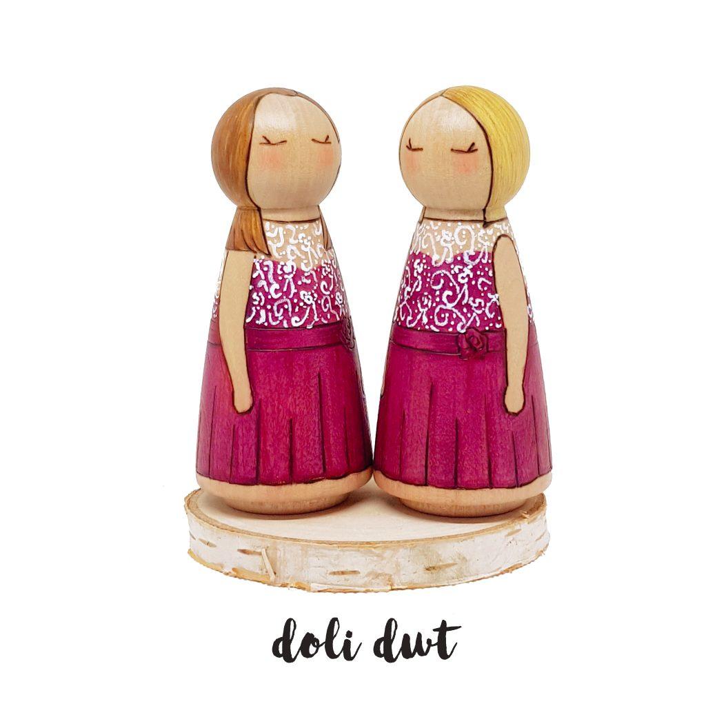 bridesmaied gifts, personalised bridesmaid gifts, bridesmaids, peg doll gifts,