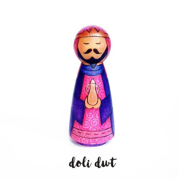 nativity peg doll, anrhegion nadolig, three kings, wise men, nativity, nativity peg dolls, peg dolls, doli dwt