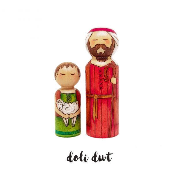 shepherd peg dolls, Christmas decorations, anrhegion cymraeg ,Nativity Peg Dolls, nativity, nativity set, peg dolls, peg doll nativity set, baby jesus, christmas nativity, christmas decor, crib