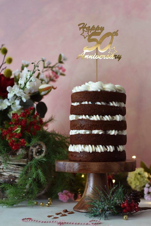 golden wedding anniversary cake topper, 50th wedding anniversary cake topper, personalised cake topper, anniversary cake topper