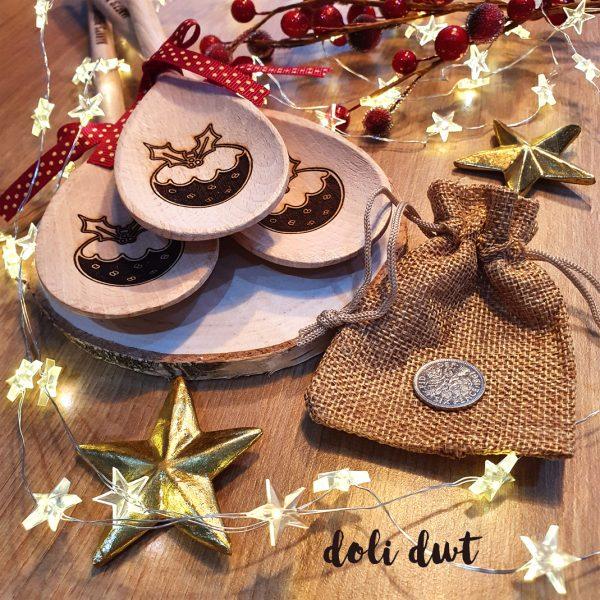 christmas pudding sixpence, sixpence, pudding coin, stir up Sunday, christmas traditions