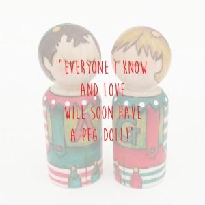 christmas decoration peg doll